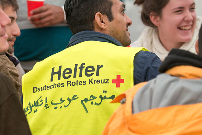 German Red Cross helper